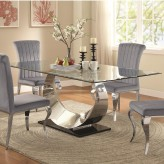 Coaster Manessier Chrome Dining Table Available Online in Dallas Fort Worth Texas