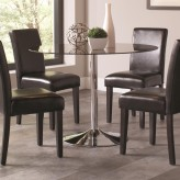 Coaster Clemente Chrome Dining Table Available Online in Dallas Fort Worth Texas