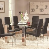 Coaster Bellini Chrome Dining Table Available Online in Dallas Fort Worth Texas