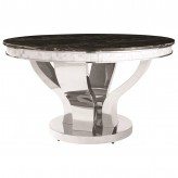 Coaster Anchorage Chrome Dining Table Available Online in Dallas Fort Worth Texas