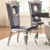 Coaster Blasio Chrome Side Chair Available Online in Dallas Fort Worth Texas
