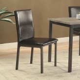 Coaster Garza Black Side Chair Available Online in Dallas Fort Worth Texas