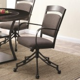 Coaster Ferdinand Grey and Dark Merlot Side Chair Available Online in Dallas Fort Worth Texas