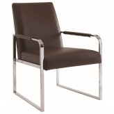 Coaster Beazly Brown Metal Accent Chair Available Online in Dallas Fort Worth Texas