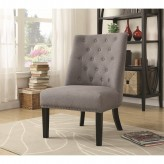 Coaster Samba Grey Accent Chair with Tufted Back Available Online in Dallas Fort Worth Texas