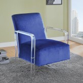 Coaster Diamol Navy Accent Chair Available Online in Dallas Fort Worth Texas