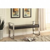 Coaster Florence Black and Chrome Bench Available Online in Dallas Fort Worth Texas