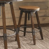 Hornell Weathered Oak Bar Stool Available Online in Dallas Fort Worth Texas