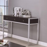 Coaster Florence Cappuccino And Chrome Sofa Table Available Online in Dallas Fort Worth Texas