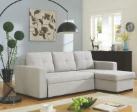 Coaster Everly Beige Sofa Chaise with Sleeper Available Online in Dallas Fort Worth Texas