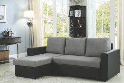 Coaster Baylor Grey and Black Sofa Chaise with Sleeper Available Online in Dallas Fort Worth Texas