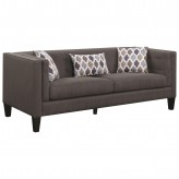 Coaster Sawyer Dusty Blue Sofa Available Online in Dallas Fort Worth Texas