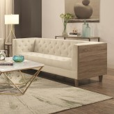 Coaster Fairbanks Weathered Taupe Sofa Available Online in Dallas Fort Worth Texas