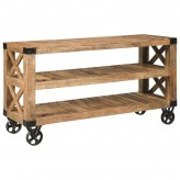 Scott Natural Rough Mango Sofa Table Available Online in Dallas Fort Worth Texas