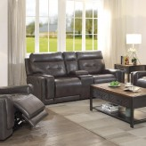 Coaster Trenton Dark Brown Motion Loveseat Available Online in Dallas Fort Worth Texas