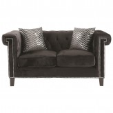 Reventlow Black Loveseat Available Online in Dallas Fort Worth Texas