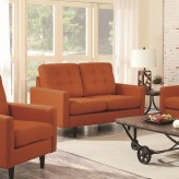 Coaster Kesson Orange Loveseat Available Online in Dallas Fort Worth Texas