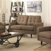 Coaster Kesson Brown Loveseat Available Online in Dallas Fort Worth Texas