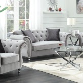 Coaster Frostine Silver Loveseat Available Online in Dallas Fort Worth Texas
