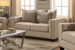 Coaster Lyonesse Beige Loveseat Available Online in Dallas Fort Worth Texas