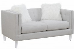 Coaster Hemet Light Grey Loveseat Available Online in Dallas Fort Worth Texas