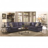 Coaster Kendrick Blue Sectional Available Online in Dallas Fort Worth Texas