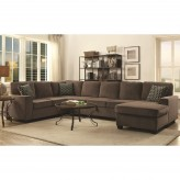 Coaster Provence Brown Sectional Available Online in Dallas Fort Worth Texas