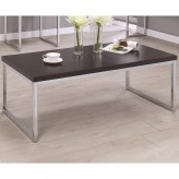 Coaster Florence Cappuccino And Chrome Coffee Table Available Online in Dallas Fort Worth Texas