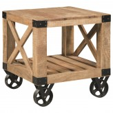 Scott Natural Rough Mango End Table Available Online in Dallas Fort Worth Texas