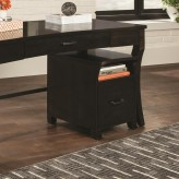 Coaster Scott Smokey Black and Brown File Cabinet Available Online in Dallas Fort Worth Texas