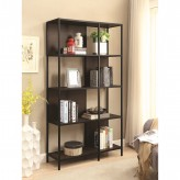 Coaster Scott Black and Dark Brown Bookcase Available Online in Dallas Fort Worth Texas