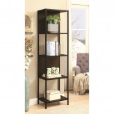 Coaster Florance Black and Dark Walnut Bookcase Available Online in Dallas Fort Worth Texas