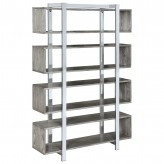 Coaster Zinnia Shell and Chrome Bookcase Available Online in Dallas Fort Worth Texas
