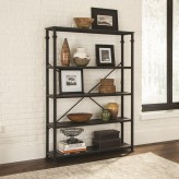 Coaster Newburgh Dark Grey and Black Bookcase Available Online in Dallas Fort Worth Texas