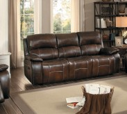 Homelegance Mahala Brown Double Reclining Sofa Available Online in Dallas Fort Worth Texas