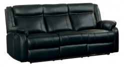 Homelegance Jude Black Double Reclining Sofa with Center Drop-Down Cup Holder Available Online in Dallas Fort Worth Texas