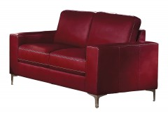 Homelegance Iniko Red Loveseat Available Online in Dallas Fort Worth Texas