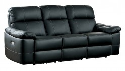 Homelegance Nicasio Black Power Double Reclining Sofa Available Online in Dallas Fort Worth Texas