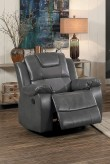 Homelegance Taye Gray Glider Reclining Chair Available Online in Dallas Fort Worth Texas