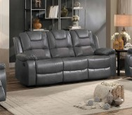 Homelegance Taye Gray Double Reclining Sofa Available Online in Dallas Fort Worth Texas