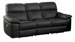 Homelegance Nicasio Dark Brown Power Double Reclining Sofa Available Online in Dallas Fort Worth Texas