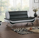 Homelegance Veloce Black/Ivory Sofa Available Online in Dallas Fort Worth Texas