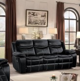 Homelegance Bastrop Black Double Reclining Sofa Available Online in Dallas Fort Worth Texas