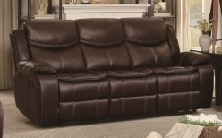 Homelegance Bastrop Dark Brown Double Reclining Sofa Available Online in Dallas Fort Worth Texas