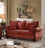 Homelegance Grand Isle Red Sofa Available Online in Dallas Fort Worth Texas