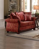 Homelegance Grand Isle Red Loveseat Available Online in Dallas Fort Worth Texas