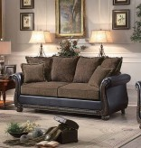 Homelegance Grand Isle Brown Fabric/Dark Brown Sofa Available Online in Dallas Fort Worth Texas