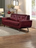 Homelegance Deryn Red Love Seat Available Online in Dallas Fort Worth Texas