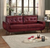 Homelegance Deryn Red Sofa Available Online in Dallas Fort Worth Texas