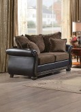 Homelegance Grand Isle Brown Fabric/Dark Brown Loveseat Available Online in Dallas Fort Worth Texas